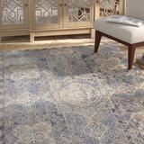 Bungalow Rose Coert Oriental Area Rug Polyester in Blue, Size 112.0 H x 79.0 W x 0.25 D in   Wayfair 6A03CC9B3F1843918395D728EF9F0E46