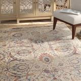 Charlton Home® Runner Rosimund Floral Ivory Area Rug Polyester in White, Size 43.0 W x 0.25 D in | Wayfair 0E3A770984D14D07989D217A162A37B3