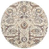 Charlton Home® Runner Rosimund Floral Ivory Area Rug Polyester in White, Size 94.0 W x 0.25 D in | Wayfair BD6DE609CB144061BAC8692879F8C52A