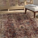 Charlton Home® Rosimund Oriental/Beige Area Rug Polyester in Red, Size 0.25 D in | Wayfair 60A2CDD23EBF4A5C84E7D3777BB56741