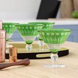 Dakota Fields Filebrook 6 oz. Martini Glass Glass in Green, Size 5.0 H x 5.0 W in | Wayfair BLMK7452 45383305