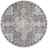 Bungalow Rose Coert Oriental Area Rug Polyester in Blue, Size 94.0 H x 94.0 W x 0.25 D in | Wayfair 9F23702332A64563B88AC3E4D554085E