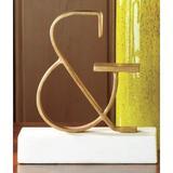 Brayden Studio® Ampersand Letter Block Metal in White/Yellow, Size 9.75 H x 9.0 W x 3.75 D in   Wayfair BRYS4933 33119813