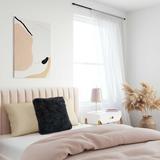 Brayden Studio® Ferrero Genuine Sheepskin Throw Pillow Polyester/Polyfill in Black, Size 19.75 H x 19.75 W x 5.0 D in | Wayfair