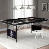 "Fat Cat Fat Cat Trueshot Foldable Billiards Table, Nylon/Manufactured Wood in Black, Size 32""H X 43""W X 76""D | Wayfair 64-6035"