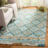 Bungalow Rose Jahiem Hand-Tufted Wool/Cotton Ivory Area Rug Cotton/Wool in Brown/White, Size 120.0 H x 96.0 W x 0.63 D in | Wayfair