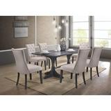 Lark Manor™ Glenmoor 7 Piece Dining Set Wood/Upholstered Chairs in Brown/Gray, Size 30.0 H in | Wayfair DBHM5537 42356707