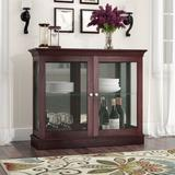 Charlton Home® Grantham Floor Standing Curio Cabinet Wood in Brown, Size 30.0 H x 36.0 W x 12.0 D in | Wayfair CHRL7569 43051557