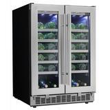 Danby Silhouette Napa 42 Bottle & 21 Can Dual-Zone Built-In Wine Refrigerator in Black/Gray, Size 37.19 H x 23.81 W x 25.56 D in | Wayfair