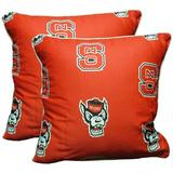 College Covers NCAA Throw Pillow Polyester/Polyfill/Cotton/Cotton Blend, Size 16.0 H x 16.0 W x 4.0 D in | Wayfair NCSDPPR