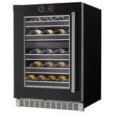 Danby Silhouette Reserve 37 Bottle Dual Zone Built-in Wine Refrigerator in Black, Size 34.81 H x 23.87 W x 26.75 D in | Wayfair SRVWC050L