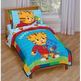 Disney Daniel Tiger 4 Piece Toddler Bedding Set Polyester in Red | Wayfair JF28097
