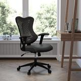 Ebern Designs High Back Designer Mesh w/ Seat & Adjustable Arms Executive Chair Upholstered in Black, Size 42.75 H x 25.75 W x 25.0 D in | Wayfair