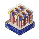 Evergreen Flag & Garden Patriotic 2-Sided Polyester 13 x 6 in. Flag Set in Blue/Brown/Red, Size 13.0 H x 6.0 W in | Wayfair P409