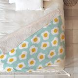 East Urban Home Hello Sayang Blanket Polyester/Fleece & Microfiber in Green/White/Yellow, Size 60.0 H x 50.0 W in | Wayfair ETHH2029 45432398