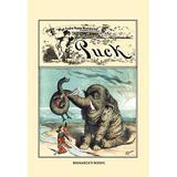 Buyenlarge 'Puck Magazine: Bismarck's Boost' by F. Graetz Vintage Advertisement in Blue/Brown/Gray, Size 36.0 H x 24.0 W x 1.5 D in   Wayfair