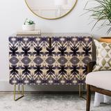 East Urban Home Wagner Campelo Shibori Tribal Credenza Wood in Brown/Yellow, Size 30.0 H x 38.0 W x 20.0 D in | Wayfair EUNM4881 46073290