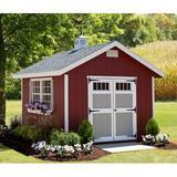 EZ-Fit Sheds Homestead 10 ft. W x 12 ft. D Wood Storage Shed in Brown/Gray, Size 123.0 H x 120.0 W x 144.0 D in | Wayfair 10X12EZKITHO