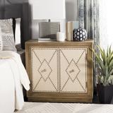 Everly Quinn Studded 2 - Door Accent Cabinet Wood in Brown, Size 29.0 H x 31.88 W x 16.0 D in | Wayfair EYQN6069 45556122