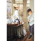 Buyenlarge 'The Messages Read' by James Tissot Painting Print in Brown, Size 66.0 H x 44.0 W x 1.5 D in   Wayfair 0-587-25577-3C4466