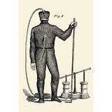 Buyenlarge 'Diving Gear w/ suit & air pump' Painting Print in Black/Brown, Size 30.0 H x 20.0 W x 1.5 D in   Wayfair 0-587-22538-6C4466