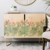 East Urban Home Cactus Credenza Wood in Brown/Yellow, Size 31.0 H x 38.0 W x 20.0 D in   Wayfair EUNM4563 45998561