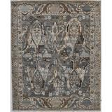 Exquisite Rugs Jurassic Oriental Hand-Knotted Wool Gray/Beige Area Rug Wool in Brown, Size 168.0 H x 120.0 W x 0.4 D in | Wayfair 3799-A0E0