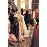 Buyenlarge 'The Fashionable Woman' by James Tissot Painting Print in White, Size 36.0 H x 24.0 W x 1.5 D in   Wayfair 0-587-25573-0C2436
