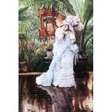 Buyenlarge 'The Elder Strauss' by James Tissot Painting Print in Blue/Brown/Green, Size 66.0 H x 44.0 W x 1.5 D in   Wayfair 0-587-25570-6C4466