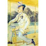 Buyenlarge A Dandy by James Tissot - Print in Brown/Yellow, Size 42.0 H x 28.0 W x 1.5 D in   Wayfair 0-587-25536-6C2842