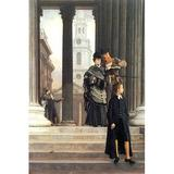 Buyenlarge 'Visitors in London' by James Tissot Print of painting in White, Size 36.0 H x 24.0 W x 1.5 D in   Wayfair 0-587-25595-1C2436
