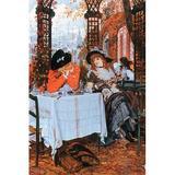 Buyenlarge 'Breakfast' by James Tissot Painting Print in Black/Brown/Orange, Size 42.0 H x 28.0 W x 1.5 D in   Wayfair 0-587-25547-1C2842