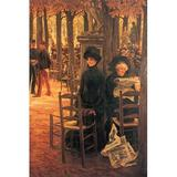 Buyenlarge 'Without Aussteuer' by James Tissot Painting Print in Black/Brown, Size 42.0 H x 28.0 W x 1.5 D in   Wayfair 0-587-25597-8C2842