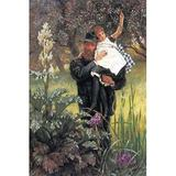 Buyenlarge 'The Widower' by James Tissot Painting Print in Brown/Green, Size 42.0 H x 28.0 W x 1.5 D in   Wayfair 0-587-25588-9C2842