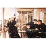 Buyenlarge 'The Daughter of the Master' by James Tissot Painting Print in Black/Brown, Size 20.0 H x 30.0 W x 1.5 D in   Wayfair 0-587-25568-4C2030