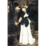 Buyenlarge 'The Farewell' by James Tissot Painting Print in Black/Brown/White, Size 30.0 H x 20.0 W x 1.5 D in   Wayfair 0-587-25572-2C2030
