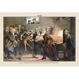 Buyenlarge Puck Magazine: A Bogus Cremation by J. Keppler Painting Print in Brown, Size 28.0 H x 42.0 W x 1.5 D in   Wayfair 0-587-13161-6C2842