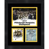 Frames By Mail 'Pittsburgh Penguins 2017 Stanley Cup' Framed Photographic Print Paper in Brown, Size 16.0 H x 13.0 W x 0.75 D in | Wayfair