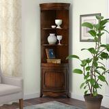 Fleur De Lis Living Richview Curio Cabinet Wood in Brown, Size 73.0 H x 24.0 W x 17.0 D in   Wayfair FDLL5004 41922807