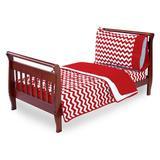 Harriet Bee Clint 4 Piece Toddler Bedding Set Cotton Blend in Red | Wayfair HBEE3946 41155795