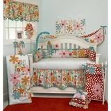Harriet Bee Swinney 7 Piece Crib Bedding Set Cotton in Blue/Green/Pink | Wayfair HBEE5104 41566506