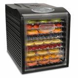 Ivation 9 Tray Electric Beef Jerky Countertop Food Dehydrator for a Healthy Diet in Black, Size 16.34 H x 13.58 W x 17.72 D in | Wayfair IVFD90RB