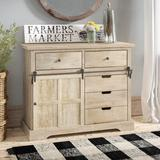 Gracie Oaks Chesterton 5 Drawer Accent Cabinet Wood in Brown/Green/White, Size 32.0 H x 40.0 W x 16.0 D in   Wayfair GRKS8567 43155844