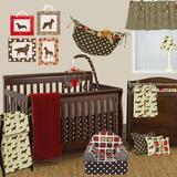 Harriet Bee Statham 7 Piece Crib Bedding Set Cotton in Brown/Red/White, Size 52.0 W in | Wayfair HBEE5110 41566515