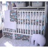 Harriet Bee Radel 4 Piece Crib Bedding Set Cotton Blend in Blue/White, Size 30.0 W in | Wayfair HBEE5178 41566828