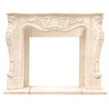 "Historic Mantels Limited Chateau Louis Fireplace Surround in White, Size 48""H X 62""W X 13""D 