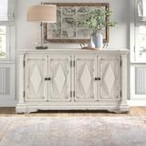 "Hooker Furniture 64"" Wide Rubberwood Sideboard Wood in Brown/Gray/White, Size 36.0 H x 64.0 W x 16.0 D in | Wayfair 5662-85001-WH"