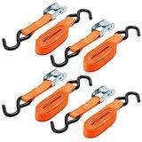 KEEPER 5105 10' Cam Buckle Tie-Down, 300 lbs. WLL (900 lbs. Break Strength), 4 Pk, i-Pack