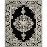 House of Hampton® Jamison Oriental Hand-Woven Flatweave Black/Ivory Area Rug Polyester in Brown/White, Size 72.0 H x 72.0 W x 0.4 D in | Wayfair