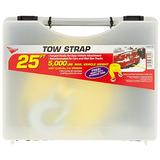KEEPER 02825-SC Emergency 25' Tow Strap with Spring Latch Hooks and Storage Case